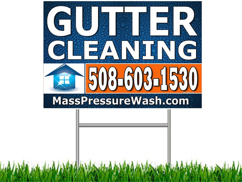Gutter Cleaning Yard Sign Worcester Ma Wagner Window Service